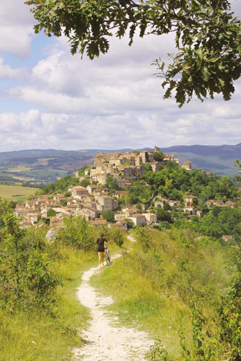 Perched village of Cordes sur ciel